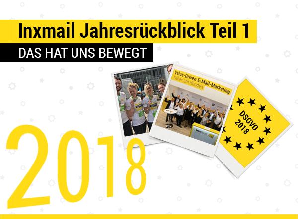 Inxmail Jahresrückblick 2018